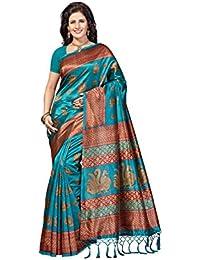 Rani Saahiba Art Mysore Silk Kalamkari Printed Saree