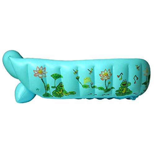 GAOJIAN Bañera inflable del bebé Mini aire portable de la piscina Niño infantil Tapa plegable gruesa de la ducha con el amortiguador suave Asiento central