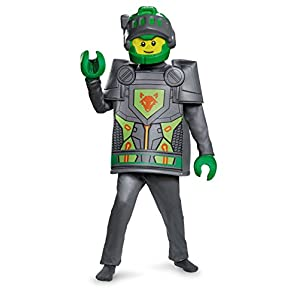 Lego Costume, Kids Nexo Aaron Deluxe Outfit, Small, Age 4 - 6 years, HEIGHT 4