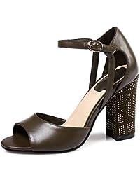 0a45dcce3e HOESCZS 2017 Große Größe 31-45 Echtes Leder Frauen Schuhe Kristall High  Heels Party Hochzeit Sandalen…
