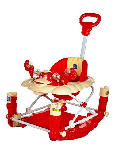Mee Mee Baby Walker with Rocker Function 2-in-1 (Red)