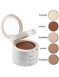 5 In 1 Concealer Cream Palette Contouring Foundation Base Face Bronzer Contour Makeup Up Set