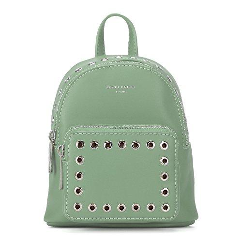 Otomoll Mini Frauen Rucksäcke Pu Leder Weibliche Schule Umhängetaschen Teenage Girls College Student Casual Bag Handtasche Green