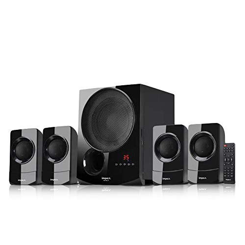 Impex 4.1 Rhyme-4 90 W Multimedia Bluetooth Speaker System (Black)