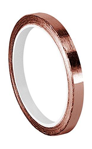 """TapeCase 0.125-6-1181 Adhesivo de cobre y acrílico, cinta adhesiva conductora convertida de 3M 1181, 0.125"""" x 6 yd, longitud: 6"""", ancho: 0.125"""""""