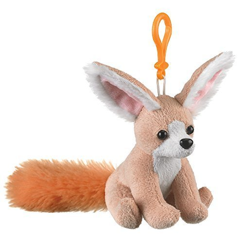 Fennec Fox Plush Backpack Clip Toy Keychain 5.5 Stuffed Fennec Fox, Kids Stuffed Animals by Small of the Wild