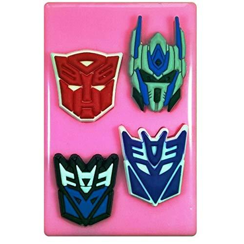 nsformer-Gesichter Masken in verkleideter Silikonform für Kuchendekoration, Kuchen, Cupcake-Topper, Zuckerguss-Werkzeug ()