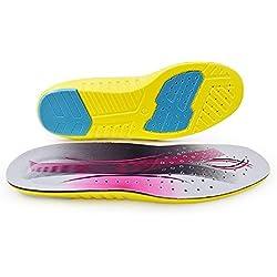 SOFIT Plantillas Gel Memory Foam Sport Plantillas, Amortiguadoras y Tanspirabilidad Antibacteriana y Flexibles, Absorción de Impactos, Zapatos Unisex para Fascitis Plantar (S EU (36-39))