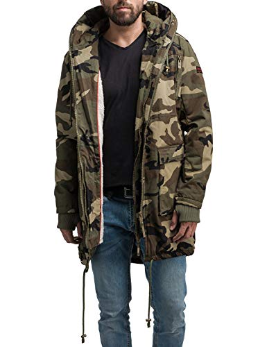 Navahoo Herren Baumwoll-Mantel Winterparka Assassin No 1 Camouflage Gr. S | 04059072139190
