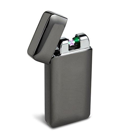 Padgene usb Lichtbogen Feuerzeug mit photoelektrischem Sensor (neues Produkt) (Schwarz)