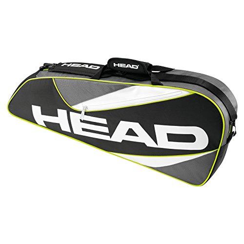 Head Elite Pro Sac pour 3 raquettes Noir/Gris