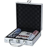 Xq Max poker conjunto 100 piece chip game negro/ red/white plata/blanco