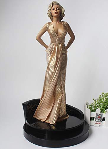 RHWZM Wohnaccessoires Figuren Geschenke 1/4 Skala Blondinen Marilyn Monroe Statue PVC Sexy Figur Sammler Modell Spielzeug 42 cm, Keine Box