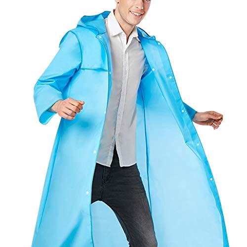 BHYDRY Die gleiche Art von Wanderregenmantel für Männer und Frauen Mode Edge-Wrapped Regenmantel