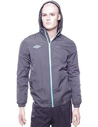Pour homme Gris/Turquoise Geometra Umbro Veste de sport Football-Taille S