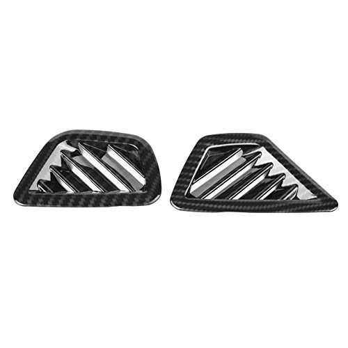 KIMISS 2 pièces Air Conditionné Évent Couvercle de Sortie Fibre de Carbone Garniture de Tableau de Bord pour la série 5 G30 17-18
