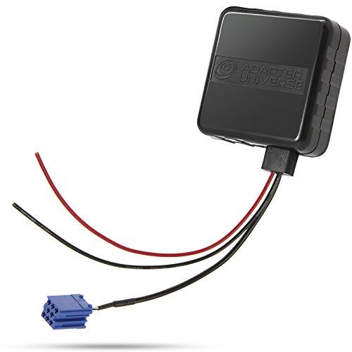KFZ Auto Radio AUX Bluetooth Adapter Kabel 12V Mini ISO 8pol Stecker Verstärker + Störgeräuschfilter für Smart 450