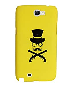 KolorEdge Back Cover For Samsung Galaxy Note II N7100 - Yellow (1872-Ke15186SamNote2Yellow3D)