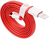 #9: OnePlus 2 / One Plus 2 / OnePlus Two / One Plus Two Compatible USB Cable Original Like USB Type C Cable Type C | C Type USB Cable | Type C Data Cable | Type C USB Cable | Type C Charger Cable | Type C Charging Cable | High Quality USB Type C to USB A Male Cable Best Tangle Free Heavy Duty High Speed Cable USB Type C Cable / USB Type-C Cable / USB Type C Charging Cable / USB Type C Data Cable / USB Type C Sync Cable / Original Genuine certified Type-C Cable ( 1 Meter, Red, Flat Cable )