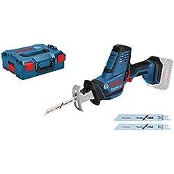 Bosch Professional Scie sabre Sans Fil GSA 18V-Li C (18 V, Profondeur de coupe dans le bois : 200 mm, L-Boxx)