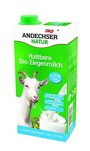 Preisvergleich Produktbild Andechser Natur Bio H-Ziegenmilch,  1, 5 % (12 x 1L)