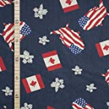 Jeans Stoff - USA Kanada - Dunkelblau