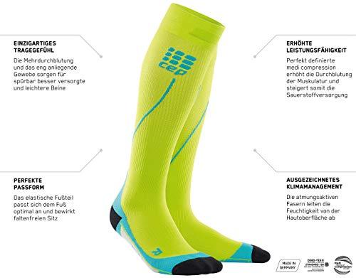 CEP - RUN SOCKS 2.0, long running socks for women, light blue / pink, size II, compression sport socks