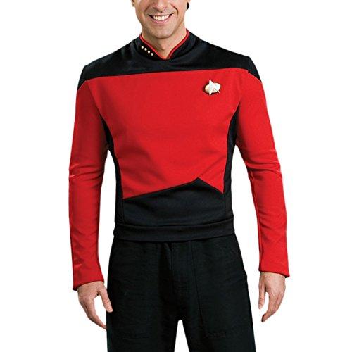 Star Trek Kostüm Movie Deluxe Shirt mit Kragenabzeichen Anstecknadel Commander - (Deluxe Trek Kostüme Movie Star)