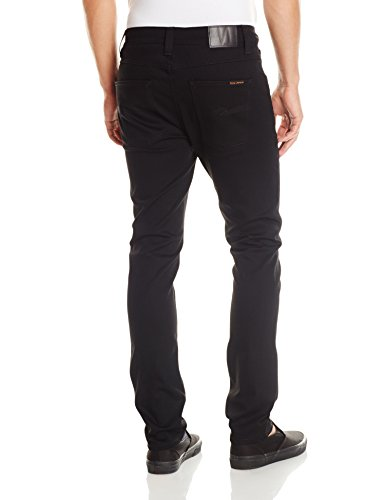 NUDIE JEANS Lean Dean, Jeans Unisex-Adulto Nero (Dry Cold Black)
