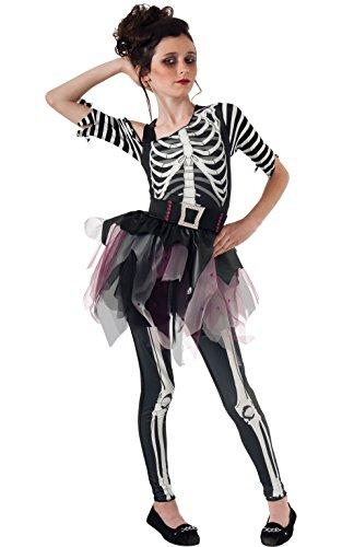 Rubies 2610027M Skelee Ballerina, Kostüm für Kinder, M (Ballerina Kostüme Kinder)
