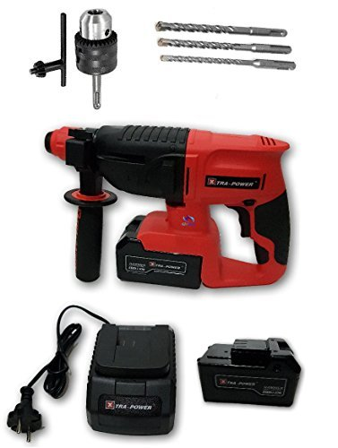 Cordless Rotary Hammer Drill (Tools Centre Xtra Power 20mm Cordless Hammer Drill Machine With Additional Accessories Chuck & Adapter.)