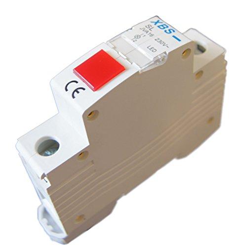 230V LED Leuchtmelder Rot Hutschiene Phasenkontrolle Meldeleuchte Signallampe (Led-meldeleuchte)