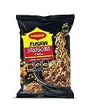 Maggi Fusian Yakisoba Noodles Chili - Fideos Orientales, paquete de 8 x 120 g - Total: 960 gr
