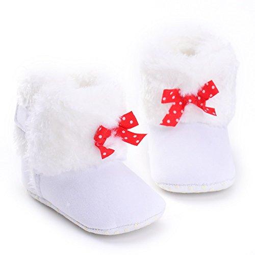 ESTAMICO , Chaussures souples pour bébé (fille) rose rose 6-12 mois Blanc