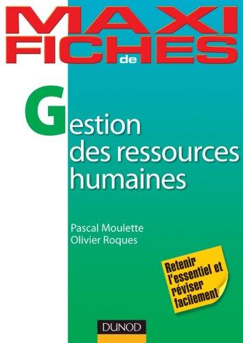 Maxi Fiches de Gestion des ressources humaines par Pascal Moulette