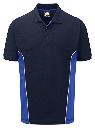 Workwear World Herren Poloshirt Blau - Navy/Royal Blue