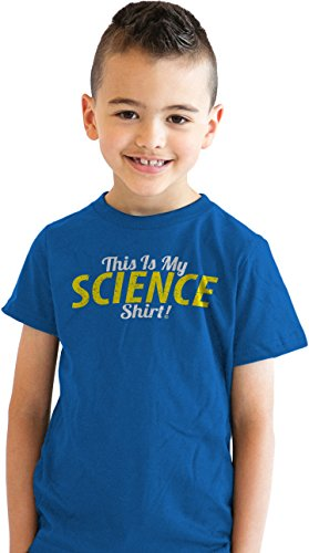 Crazy Dog Tshirts Youth This is My Science Shirt Funny Nerdy Scientific T Shirt for Kids (Royal Blue) M - Jungen - M (College-student-mädchen T-shirt)