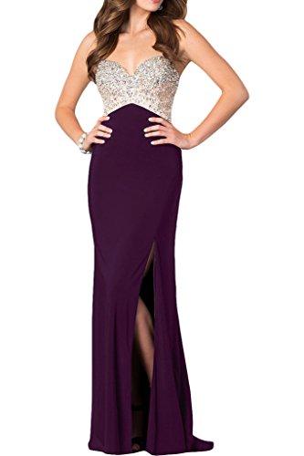 ivyd ressing robe haute qualité strass fente Spaghetti Prom Party robe robe du soir Traube