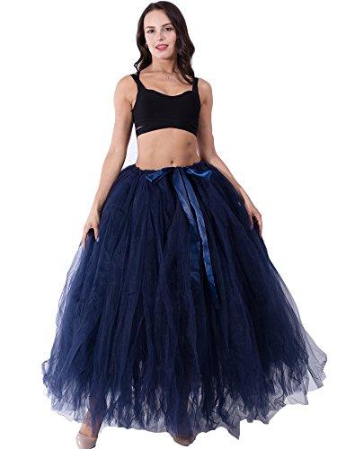 Dorchid Frauen Puffy Tutu Tüll Rock Krinoline für Tanz Maxi Lange 100 cm Hochzeit Kostüm Party Röcke für Foto Schießen Plus Größe (24 Farben)