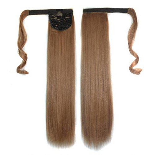 Tianya 1pc Frauen Clip in Hair Extensions Lange Gerade Pferdeschwanz Perücken, e, Length:60cm/24'' (Halloween Hair Extensions)