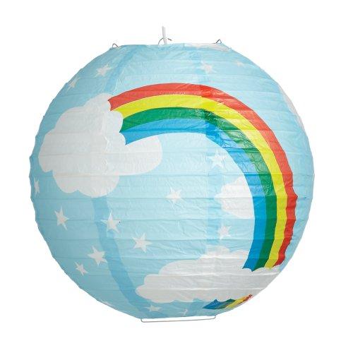 6922b-35cm Regenbogen Laterne aus Papier Lampenschirm Anhänger Decke. - Papier-decke-anhänger