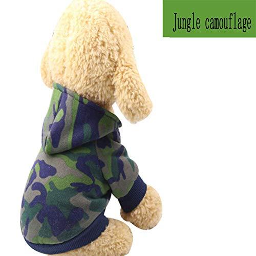 SCJ Haustierprodukte Hundekleidung Tarnkleidung Dirty HandsomeHaustierkleidungCat Two-Legged Hooded ClothesDeep Army Green_S