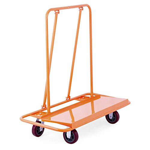 Mophorn Plattformwagen bis 1360kg Transportwagen Handwagen Transportkarre Drywall Cart Handling Sheetrock Service Warenkorb Schwerlastrollen (1360kg) (Roll-out Warenkorb)