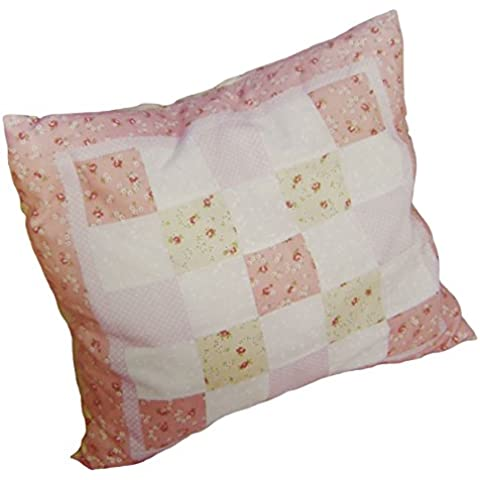 Motivo floreale rosa a pois 45,72 cm Copricuscino Quilting Kit