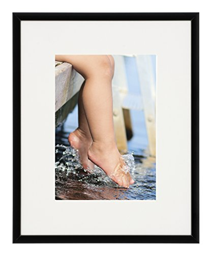 Artcare par Nielsen 20,3 x 25,4 cm Collection Studio Cadre Noir Mat, Mat vers 12,7 x 17,8 cm