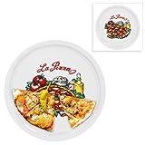 2er Set Pizzateller Napoli groß - 30,5cm Porzellan Teller mit schönem Motiv - für Pizza / Pasta, den 'großen Hunger' oder zum Anrichten geeignet
