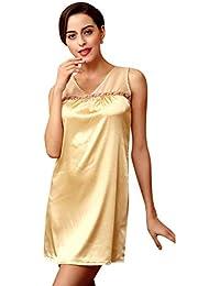 f9dc98fc10 Women s Lingerie Night Warming Sheaf Sleeping Shirt Satin Night Warming  Sche Fashion Chic Chemises Nightshirts Slip