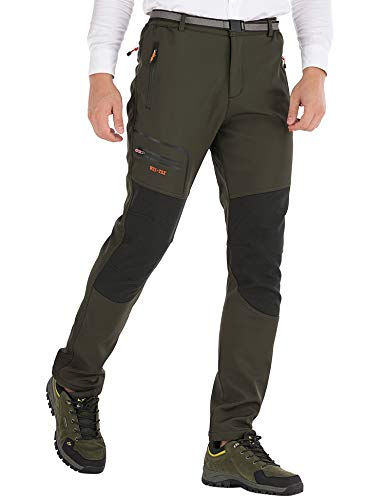 DAFENP Pantalones Trekking Hombre Impermeable Pantalones