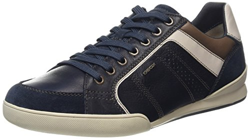 Geox U Kristof A, Baskets Basses Homme Bleu (Cf41V)