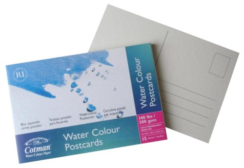 Winsor & Newton Cotman Postkarten Block - Aquarellpapier , 15 Postkarten, 300 g/m², 15x10 cm